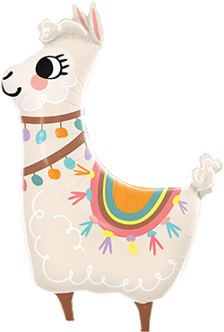 Loveable Llama Foil Shape 45in/114cm