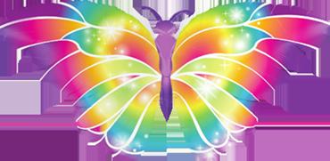 Luminous Butterfly Foil Shape 44in/112cm