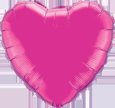 Magenta Foil Heart 4in/10cm