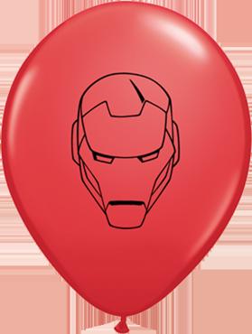 Marvel's Avengers Assemble Standard Red Latex Round 11in/27.5cm