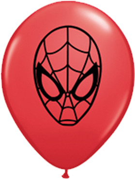 Marvel's Ultimate Spider-Man Face Standard Red Latex Round 5in/12.5cm