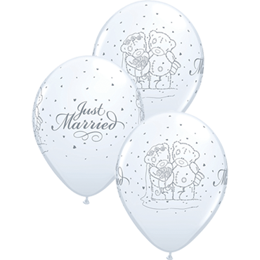 Me To You - Tatty Teddy Just Married Standard White Latex Round 11in/27.5cm