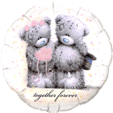 Me To You - Tatty Teddy Together Forever Foil Round 18in/45cm