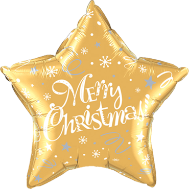 Merry Christmas! Festive Gold Foil Star 20in/50cm