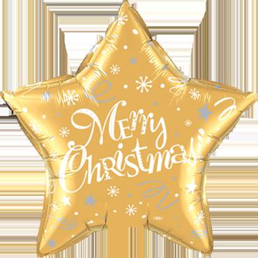 Merry Christmas! Festive Gold Foil Star 20in/50cm