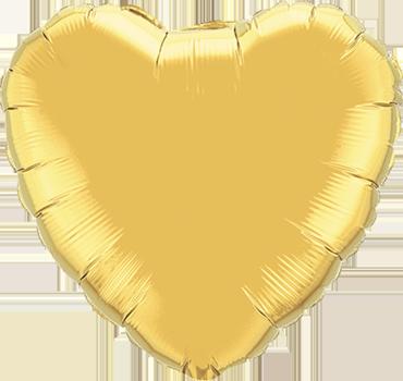 Metallic Gold Foil Heart 18in/45cm
