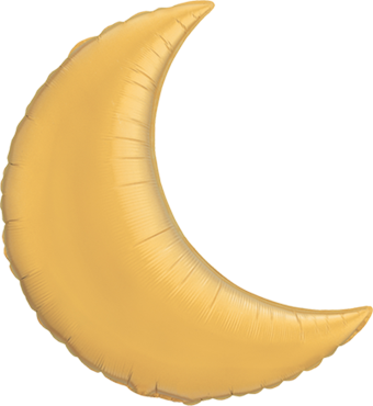 Metallic Gold Foil Moon 35in/87.5cm