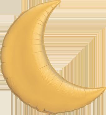 Metallic Gold Foil Moon 9in/22.5cm