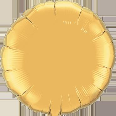 Metallic Gold Foil Round 4in/10cm