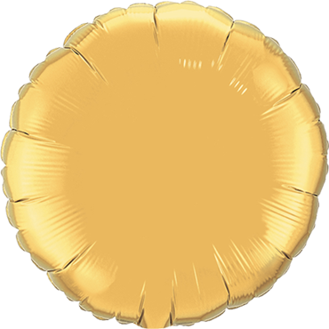 Metallic Gold Foil Round 9in/22.5cm