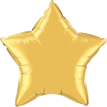 Metallic Gold Foil Star 9in/22.5cm