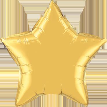 Metallic Gold Foil Star 9in/22.5cm