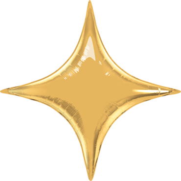Metallic Gold Foil Starpoint 40in/100cm