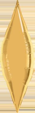 Metallic Gold Foil Taper 27in/67.5cm