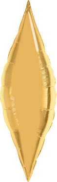 Metallic Gold Foil Taper 38in/95cm