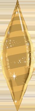 Metallic Gold Foil Taper Swirl 38in/95cm