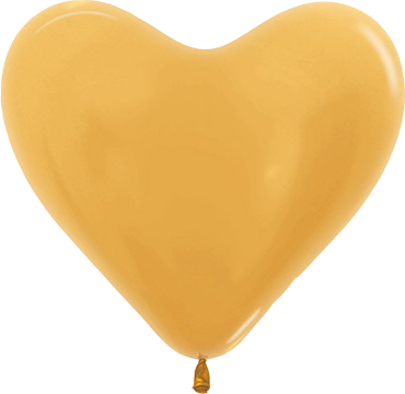 Metallic Gold Latex Heart 14in/36cm