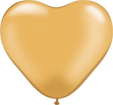 Metallic Gold Latex Heart 6in/15cm