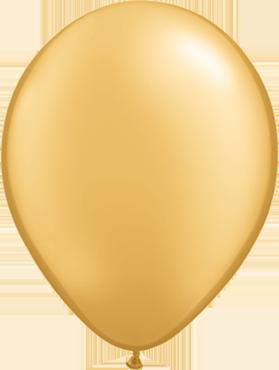 Metallic Gold Latex Round 16in/40cm