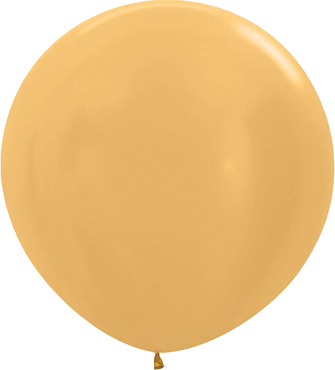 Metallic Gold Latex Round 24in/60cm