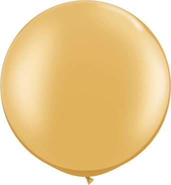 Metallic Gold Latex Round 30in/75cm