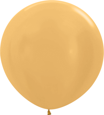 Metallic Gold Latex Round 36in/90cm