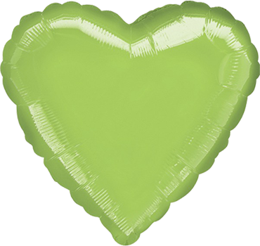 Metallic Lime Green Foil Heart 18in/45cm
