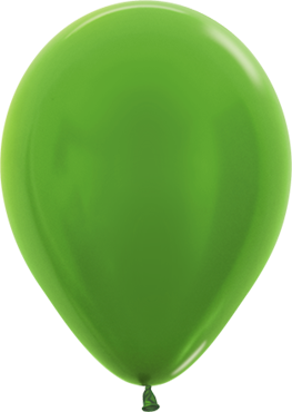 Metallic Lime Green Latex Round 11in/27.5cm