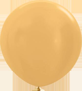 Metallic Pearl Gold Latex Round 36in/90cm