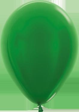 Metallic Pearl Green Latex Round 11in/27.5cm