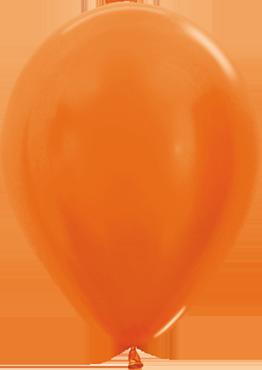 Metallic Pearl Orange Latex Round 5in/12.5cm