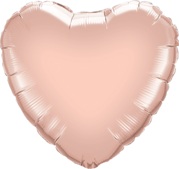 Metallic Rose Gold Foil Heart 18in/45cm