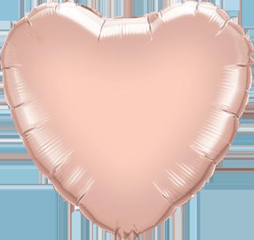 Metallic Rose Gold Foil Heart 9in/22.5cm