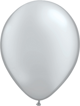 Metallic Silver Latex Round 11in/27.5cm