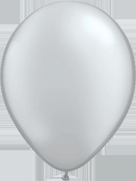 Metallic Silver Latex Round 16in/40cm