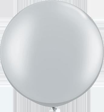 Metallic Silver Latex Round 30in/75cm