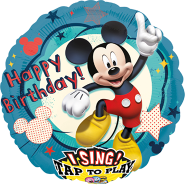 Mickey Clubhouse Birthday Sing A Tune Foil Round 28in/71cm