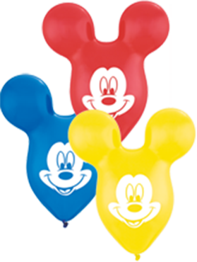 Mickey Ears Yellow, Red and Dark Blue Assortment 15in/37.5cm
