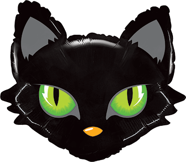 Mighty Cat Head Foil Shape 28in/71cm