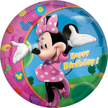 Minnie Happy Birthday Foil Round 18in/45cm