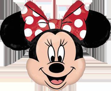 Minnie Mouse Head Vendor Foil Shape 21in/53cm x 21in/53cm