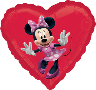 Minnie Mouse Vendor Foil Heart 18in/45cm