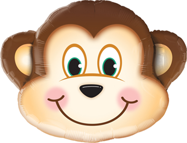 Mischievous Monkey Foil Shape 35in/87.5cm