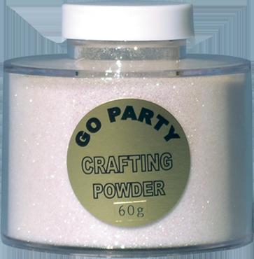 Mixed White Iridescent Glitter Pot 60g