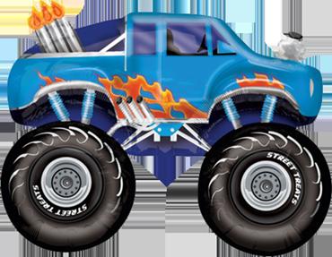 Monster Truck - Blue Vendor Foil Shape 24in/60cm x 24in/60cm