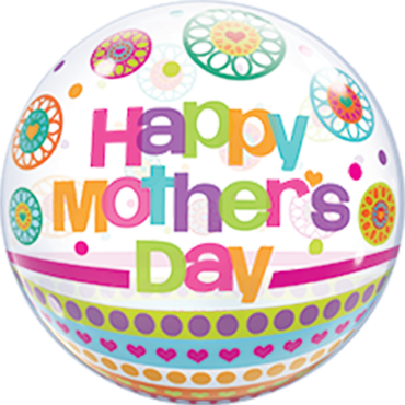 Mother's Day Dots and Patterns Single Bubble 22in/55cm