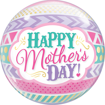 Mother's Day Dots and Stripes Single Bubble 22in/50cm