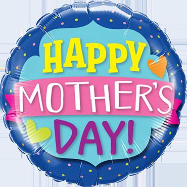Mothers Day Emblem Banner Foil Round 18in/45cm