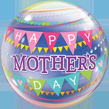 Mothers Day Pennants Single Bubble 22in/50cm