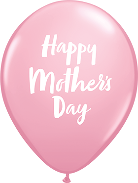 Mother's Day Script Standard Pink Latex Round 11in/27.5cm